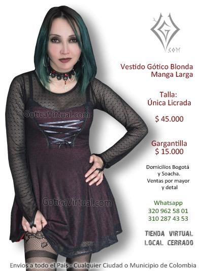 dab5697af vestido gotico bogota soacha manga larga blonda vinotinto dark clan goticos  medellin restrepo chapinero bosa kennedy