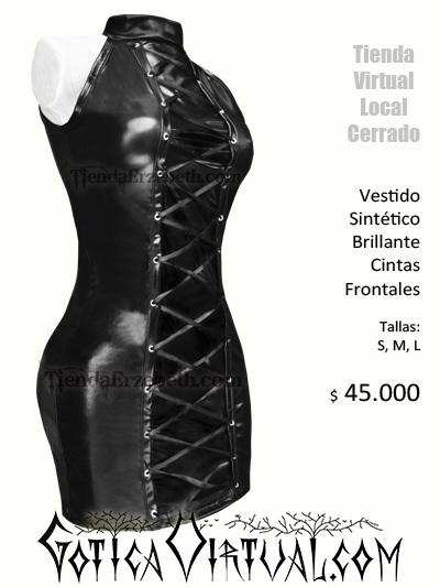 vestido negro latex sex shop prendas dama girl hot bogota online internet tienda lama brillante sintetico sensual sexy