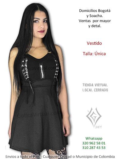 vestido negro tela bonito economico corto volado dalfa cintas cuerina venta online bogota caldas valledupar mosquera tunja valle colombia