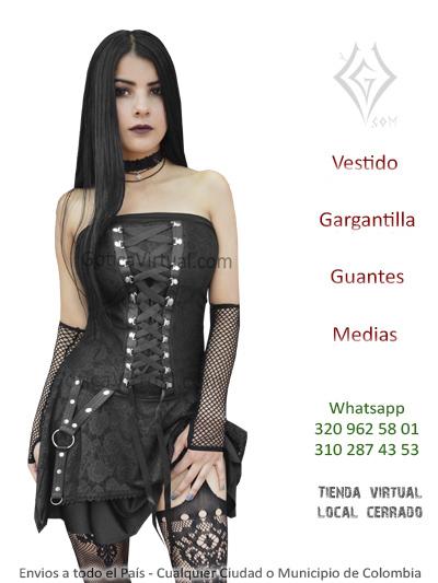 34b54ee42 vestido puntas malla gotico ropa tienda online mayorista metalera tienda  bucamanaga piedecuesta soledad ipiales juanchito pereira