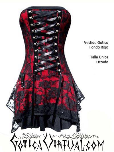 vestido rojo blonda bogota straple flores medieval gotico rockero tienda metalera envios medellin cali tunja pasto ventas por mayor y detal