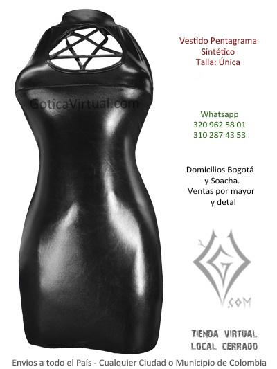 vestido sintetico pentagrama negro liso venta online domicilis bogota usme soacha teusaquilla quirigua tintal colombia