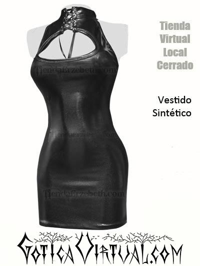 vestido sintetico cuerina lame latex brillante sex shop tienda erzebeth bogota medellin cali barranquilla internet online