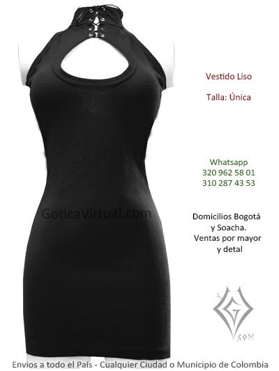 vestido algodon negro cuerllo ortuga cintas venta online domicilios bogota suba bosa usaquen colombia