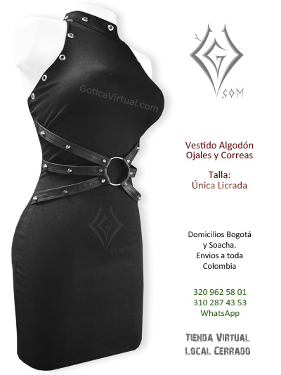 vestido algodon ojales tienda online rock metal bogota huila caldas funza chia pereira colombia